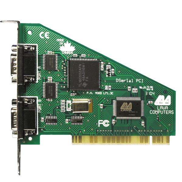 LAVA PCI 2 port RS-232