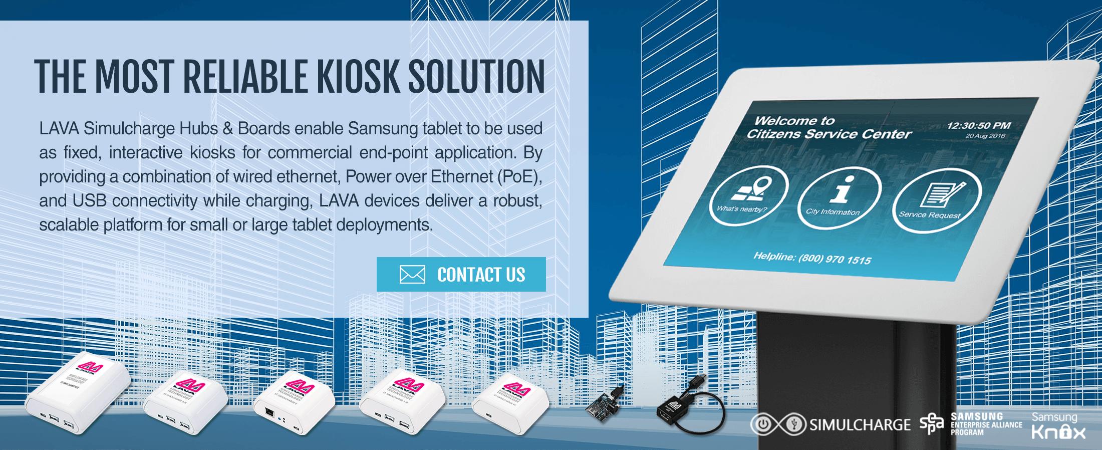 LAVA Government Tablet Kiosk Solution Banner