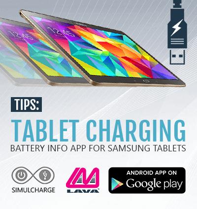 Samsung Tablet Charging Application