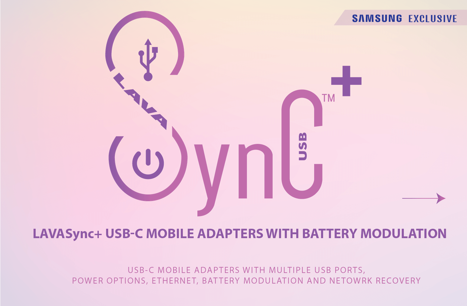 LAVASync+ USB-C adapters for Samsung